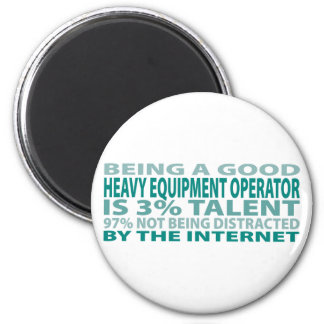 Heavy Equipment Operator 3% Talent Refrigerator Magnets