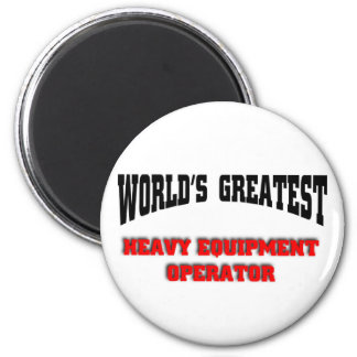 Heavy equipment operator 6 cm round magnet