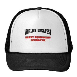 Heavy equipment operator hat