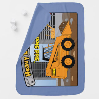Heavy Equipment Skid Steer baby blanket