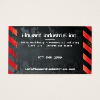 Heavy Hazards Red Business Card