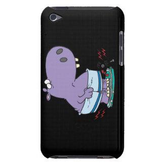 heavy hippo breaking scale diet humor iPod Case-Mate case