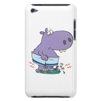 heavy hippo breaking scale diet humor iPod touch case