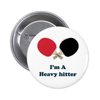 Heavy Hitter Ping Pong 6 Cm Round Badge