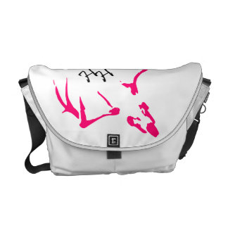 Heavy Hitters Hand-bag with pink logo Courier Bag