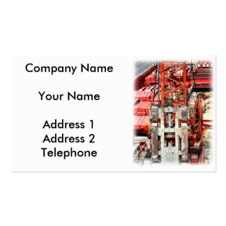 Heavy Industrial Drilling Machine Pack Of Standard Business Cards