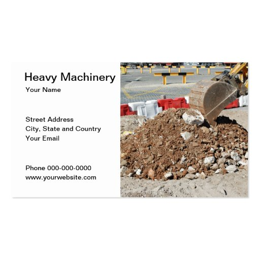 Heavy Machinery Business Card Business Card