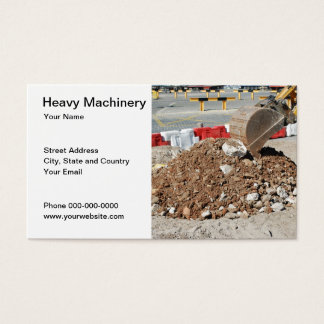 Heavy Machinery Business Card