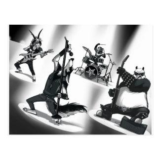 Heavy Metal Band Postcard