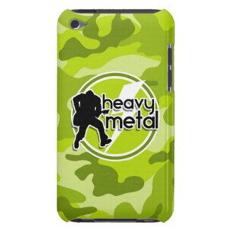 Heavy Metal bright green camo camouflage iPod Case-Mate Case
