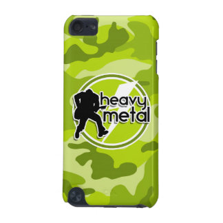 Heavy Metal; bright green camo, camouflage iPod Touch 5G Cases
