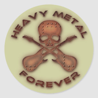 Heavy Metal Forever Classic Round Sticker