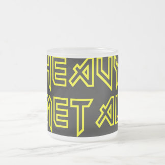 Heavy Metal Frosted Glass Mug