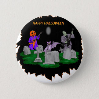 Heavy Metal Halloween 6 Cm Round Badge
