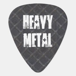 Heavy Metal Iron Steel diamond pattern Pick