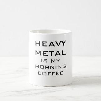Heavy Metal Is My Morning Coffee Classic White Coffee Mug