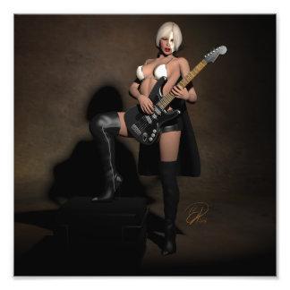 Heavy Metal Opera Pinup Ghoul Art Photo