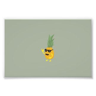 Heavy Metal Pineapple Art Photo