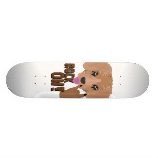 Heavy metal Puppy rock on 20 Cm Skateboard Deck
