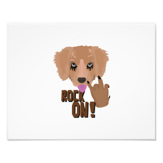 Heavy metal Puppy rock on Art Photo