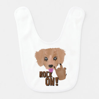 Heavy metal Puppy rock on Baby Bib