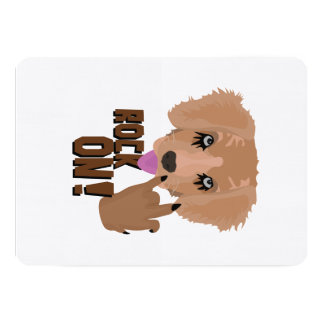 Heavy metal Puppy rock on Card