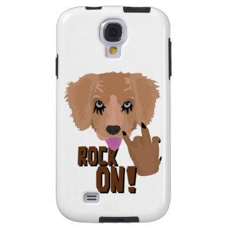 Heavy metal Puppy rock on Galaxy S4 Case