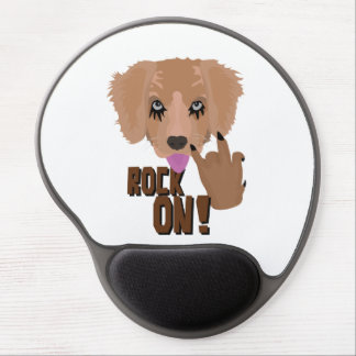Heavy metal Puppy rock on Gel Mouse Pad