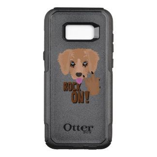 Heavy metal Puppy rock on OtterBox Commuter Samsung Galaxy S8+ Case