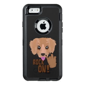 Heavy metal Puppy rock on OtterBox Defender iPhone Case