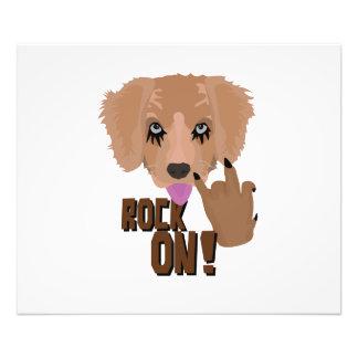 Heavy metal Puppy rock on Photo Print