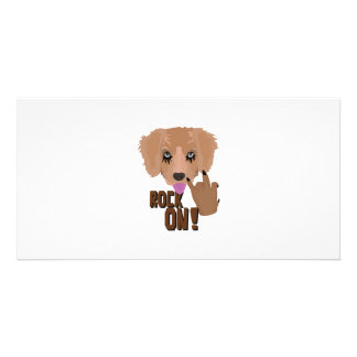 Heavy metal Puppy rock on Picture Card
