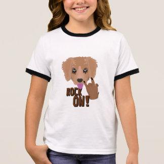 Heavy metal Puppy rock on Ringer T-Shirt