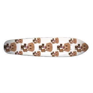 Heavy metal Puppy rock on Skate Deck