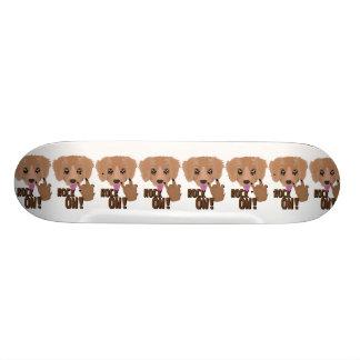 Heavy metal Puppy rock on Skateboard Decks