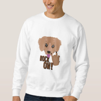 Heavy metal Puppy rock on Sweatshirt