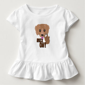 Heavy metal Puppy rock on Toddler T-Shirt