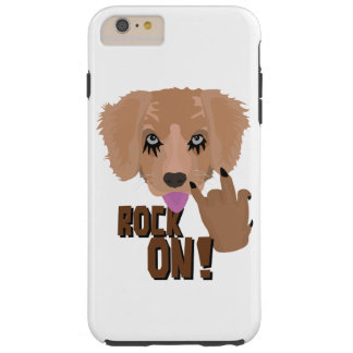 Heavy metal Puppy rock on Tough iPhone 6 Plus Case