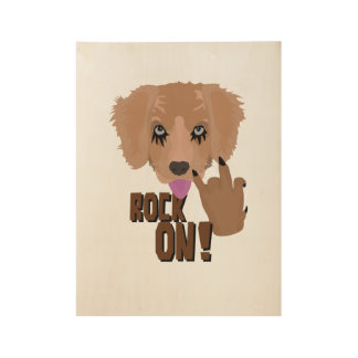 Heavy metal Puppy rock on Wood Poster