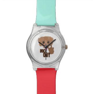 Heavy metal Puppy rock on Wristwatch