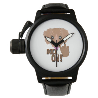 Heavy metal Puppy rock on Wristwatches