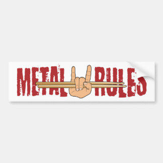 Heavy Metal Rock Drummer Rules Bumper Sticker