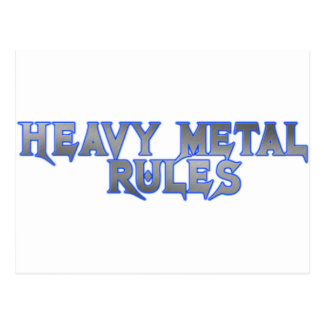 HEAVY METAL RULES POSTCARD