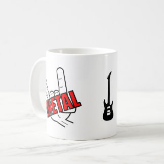 Heavy Metal Salute Music Coffee Mug