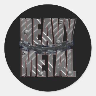 heavy metal sticker