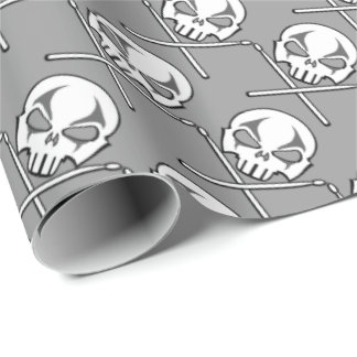 Heavy Metal Wrapping Paper Rock Drummer Gift Paper