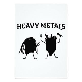 Heavy Metals 3.5x5 Paper Invitation Card