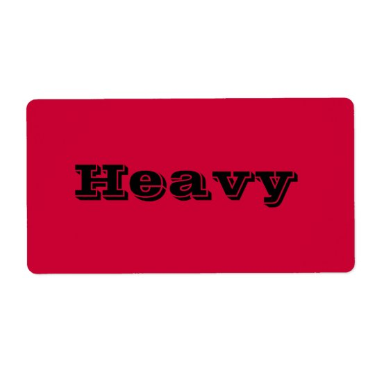 Heavy Moving Labels in Red