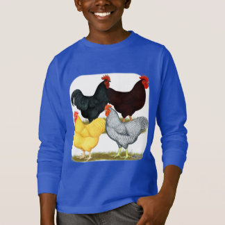 Heavy Rooster Chicken Quartet T-Shirt