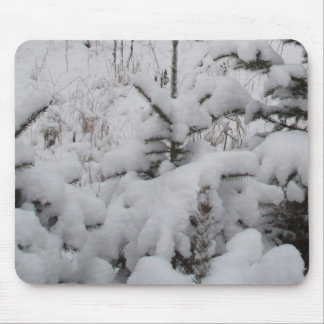 Heavy Snow Covered Pines Mouse Pad